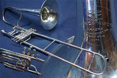Distin Trombone; Valve